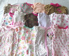 USED 13 PC LOT OF BABY GIRL CLOTHES SLEEPERS 6 9 MONTHS EUC VGUC