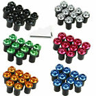 10 Pcs 5mm Fairing Windshield Screw Bolt Kit Mounting Nuts Wellnut+Allen Key PSB