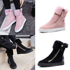 Fashion Suede Warm Fur Lining Ankle Winter Boots Flats High Top Sneakers Shoes