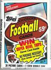 1984 Topps Football Cello Pack Mike Singletary on top