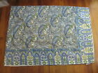 APRIL CORNELL Blue Paisley Rectangular Table Cloth 56