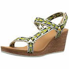 Teva Womens Arrabelle Universal Cork Wedge Casual Strap Sandals  Lime Green
