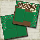 FOOTBALL FUN 2 Premade Scrapbook Pages EZ Layout 495