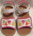 Girls Rachel shoes white heart sandals Shoes Size 9 NWOB