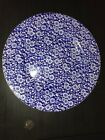 Queens Calico Blue Chintz Flower Salad Plate Made In England