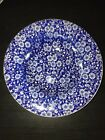Queens Calico Blue Chintz Flower Rimmed Soup Bowl Made In England