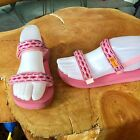 Reef Pink Sandals Girls Size 4 5