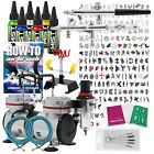 Temporary Tattoo Airbrush Kit With Compressor and Stencils