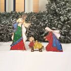 Outdoor Nativity Set Christmas Lighted Decoration Holy Family Yard Garden Patio