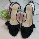 Kate Spade New York Lover Black Satin Bow Strappy Slingback Heels Size 85 B