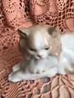 Lladro NAO 113 Angora Cat Retired! Mint Condition! No Box! L@@K! Great Gift!