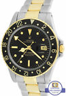 Rolex GMT-Master 16753 Black Nipple Two-Tone Gold Stainless 40mm Oyster Watch
