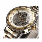 WatchesMens Watches Classic Style Skeleton Stainless Steel Mechanical