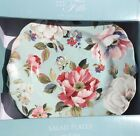 222 Fifth Oriana Teal Side Plates Set Of 4 Spring Floral Easter