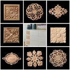 1 X Floral Wood Decal Appliques Frame Wall Doors Furniture Woodcarving Decor