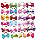 20Pc Pet Hair Bows Rubber Bands Small Dog Cat Bowknot Hair Grooming Accessory