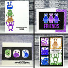 Cartoon Monster Clear Stamps for DIY Scrapbooking Decor Card Making Supply Craft