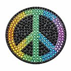 2 Rainbow Peace Sticker Beans Rhinestone