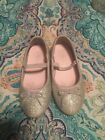 Carters size 8 Silver Sparkle Shoes Flats girls