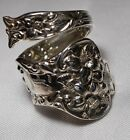 WATSON BRIDAL FLOWER Sterling 1910 Bypass Sterling Spoon Ring Free Shipping