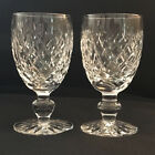 Waterford Signed Donegal Cut Bowl and Foot Set of 2 White Wine Goblets 4 1/2
