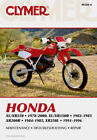 CLYMER Repair Manual for Honda XL/XR250 1978-2000, XL/XR350R 1883-1985