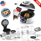 No Oil Needed WiFi Rotisserie Grill Electric Oven Air Fryer w/ FREE Recipe Book