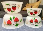 Bartlett Collins Strawberries Strawberry Set Of 4 Mixing Bowls