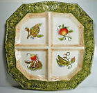 Fitz and Floyd Vista Bella Divided 4 Part Square Platter New