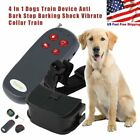 4 In 1 Remote Small Med Dog Training Shock Vibrate Collar Trainer Safe Pet Cat H