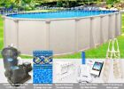12x24 Oval 52 High Saltwater 5000 Above Ground Salt Swimming Pool Package