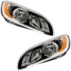 Headlights Headlight Assembly NEW Pair Set for 14 18 Volvo S60 15 18 Volvo V60