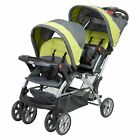 Sit And Stand Stroller Tandem Infant or Toddler Double Canopy Storage Baby Trend