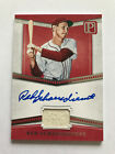 2016 Panini Pantheon Baseball Red Schoendienst Jersey Relic On Card Auto 99