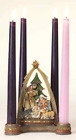 Nativity Advent Candle Holder Josephs Studio 625 Inches Tall Christmas Decor