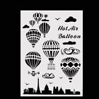 Hot Air Balloon Plastic Layering Stencils Scrapbooking Stamping Painting Stamps