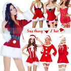 Fancy Dress Adult Women Red Christmas Outfit Sexy Mrs Claus Hooded Santa Costume