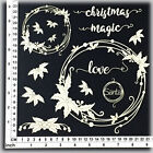 Chipboard Embellishments for Scrapbooking String Circles Holly 54068