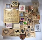 Random Rubber Stamp Lot of 39 Heart Sentiments Love PSX and More Words FRE1
