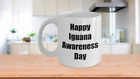 Happy Iguana Awareness Day - Supplies Accessories Coffee Mug Cup Gift Care