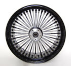 18x85 BLACK MAMMOTH 48 FAT SPOKE REAR WHEEL FOR HARLEY DAVIDSON 250 WIDE TIRES
