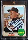 1968 Topps #50 Willie Mays Signed Autograph San Francisco Giants Card RARE HOF