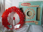 Vintage Cellophane Christmas Wreath Lighted 10