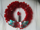 Vintage Cellophane Christmas Wreath 10 Great Condition