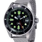 Tauchmeister 24 hour GMT Automatic - Milanaise s-steel strap T0288MIL