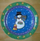 Snowman Plate Sango Sweet Shoppe Christmas by Sue Zipkin 8.25