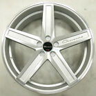GIOVANNA DRAMUNO 5 22 x 90 SILVER RIMS WHEELS DODGE CHARGER AWD 5x115 +38