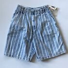 80s DEADSTOCK Acid Wash Striped High Waisted Jean Shorts XS SMALL Venice Beach