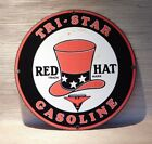 Tri State Gasoline Sign Red Hat Ande Rooney 11 inches
