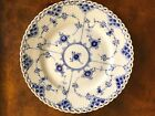 Royal Copenhagen BLUE FLUTED FULL LACE Salad/Luncheon Plate, 8 3/4